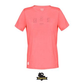 Norrona SVALBARD WOOL - Camiseta mujer crisp ruby