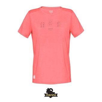 Norrona SVALBARD WOOL - Tee-shirt Femme crisp ruby