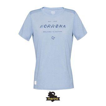 Norrona SVALBARD WOOL - Tee-shirt Femme coronet blue