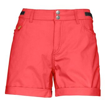 Norrona SVALBARD LIGHT COTTON - Short mujer crips ruby