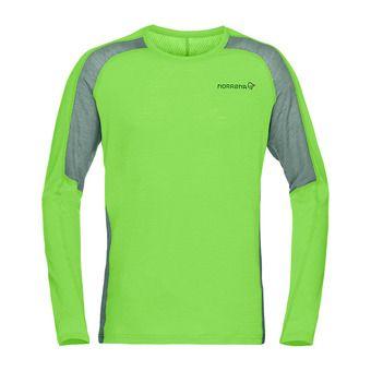Norrona BITIHORN WOOL - Camiseta hombre bamboo green