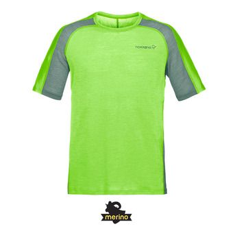 Norrona BITITHORN WOOL - Camiseta hombre bamboo green