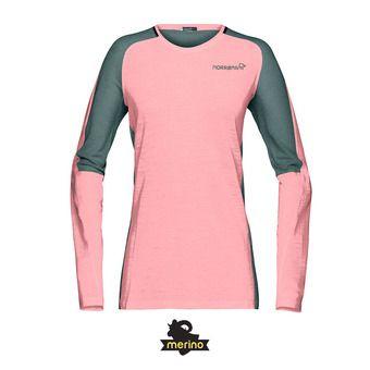 Norrona BITIHORN WOOL - Tee-shirt Femme geranium pink