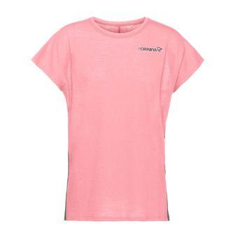 bitihorn wool T-shirt Geranium Pink Femme Geranium Pink