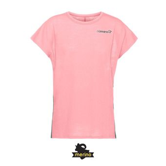 Norrona BITIHORN WOOL - Camiseta mujer geranium pink