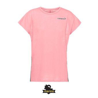 SS T-Shirt - Women's - BITIHORN WOOL geranium pink