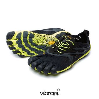 Five Fingers V-RUN - Chaussures running Homme noir/jaune