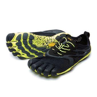 Five Fingers V-RUN - Chaussures running Homme noir/jaune