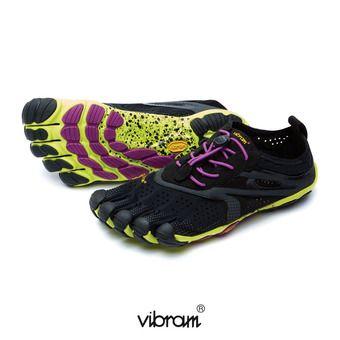 Five Fingers V-RUN - Zapatillas de running mujer black/yellow/violet