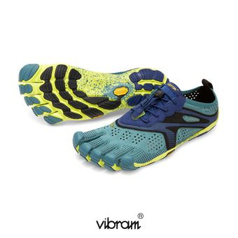 Five Fingers V-RUN - Chaussures running Homme bleu marine/jaune
