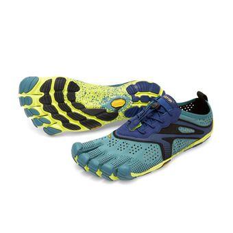 Five Fingers V-RUN - Scapre da running Uomo blu mare/giallo