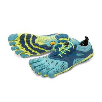 Five Fingers V-RUN - Scarpe da running Donna turchese/blu mare/giallo