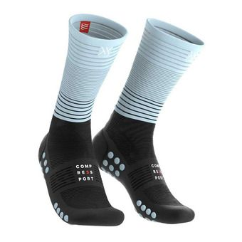 Compressport MID COMPRESSION - Calcetines black/ice blue