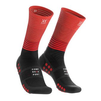 Compressport COMPRESSION - Chaussettes noir/rouge