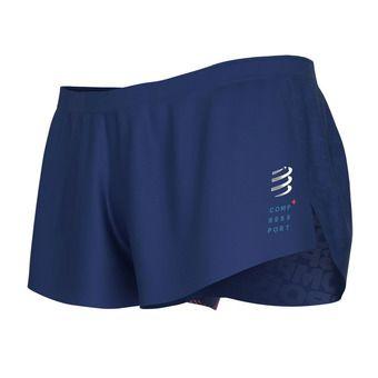 Compressport RACING SPLIT - Short exterior hombre blue