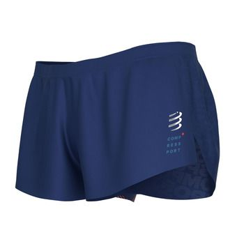 Compressport RACING SPLIT - Short Homme bleu