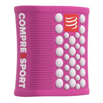 Compressport SWEAT 3D.DOTS - Polsini in spugna Donna rosa/bianco