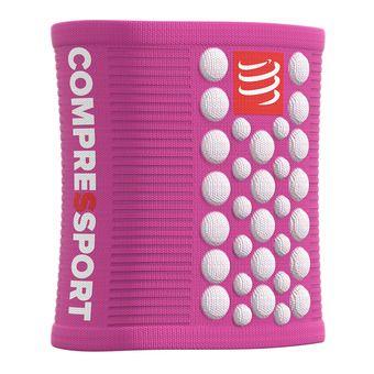 Compressport SWEATBANDS 3D.DOTS - Poignets-éponges pink/white