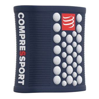 Compressport SWEAT 3D.DOTS - Polsini in spugna blu/bianco