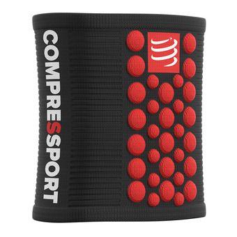 Poignets-éponges SWEAT 3D.DOTS noir/rouge