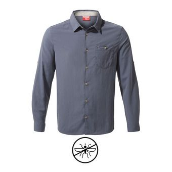 Chemise ML homme NUORO ombre blue