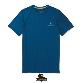 Tee-shirt MC homme MERINO SPORT 150 LOGO alpine blue