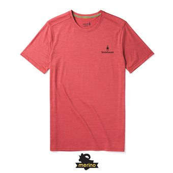 Smartwool MERINO SPORT 150 LOGO - Camiseta hombre earth red heather
