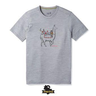 Smartwool MERINO SPORT 150 LLAMA ADVENTURES - Camiseta hombre light gray heather