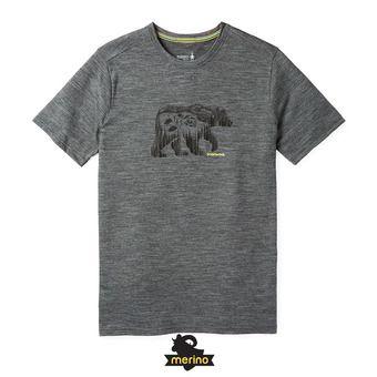 Smartwool MERINO SPORT 150 BEAR CAMP - Camiseta hombre medium gray heather