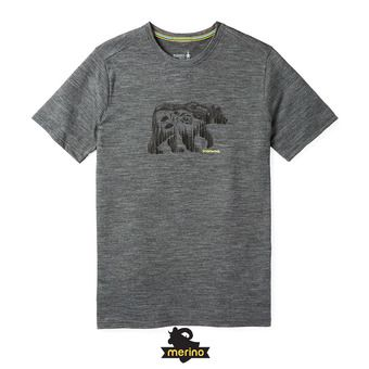 Tee-shirt MC homme MERINO SPORT 150 BEAR CAMP medium gray heather