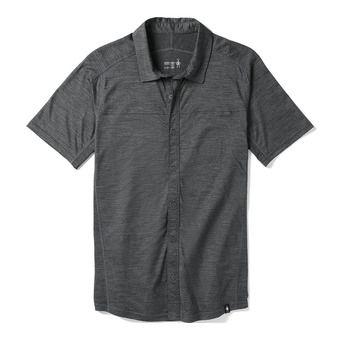 Smartwool MERINO SPORT 150 BUTTON DOWN - Camisa hombre medium gray heather