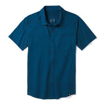 Smartwool MERINO SPORT 150 BUTTON DOWN - Camisa hombre alpine blue
