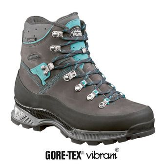 Meindl ISLAND MFS ROCK GTX - Chaussures randonnée Femme anthracite/turquoise