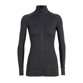 Icebreaker FLUID ZONE - Sweatshirt - Women's - jet hthr/black