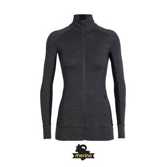 Sweat zippé femme FLUID ZONE jet hthr/black