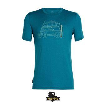 Icebreaker CREWE SURFSPORT CAMPER - Tee-shirt Homme poseidon
