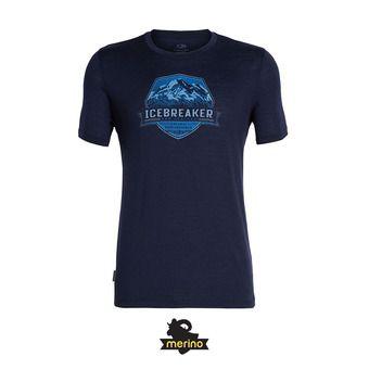 Icebreaker CREWE COOK CREST - Tee-shirt Homme midnight navy