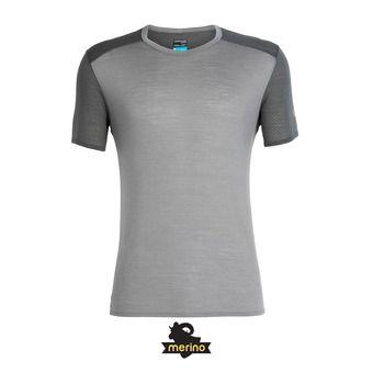 Icebreaker AMPLIFY CREWE - Tee-shirt Homme timberwolf/monsoon