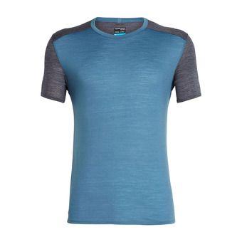 Icebreaker AMPLIFY CREWE - Tee-shirt Homme thunder/panther hthr