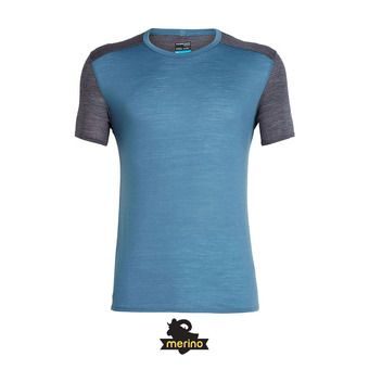 Icebreaker AMPLIFY CREWE - Tee-shirt Homme thunder/panther hthr