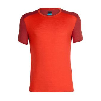 Icebreaker AMPLIFY CREWE - Tee-shirt Homme chili red/sienna