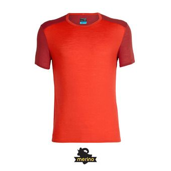 Icebreaker AMPLIFY CREWE - Tee-shirt Homme chili red/sienna