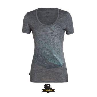 Icebreaker SCOOP PLUME - Tee-shirt Femme gritstone hthr
