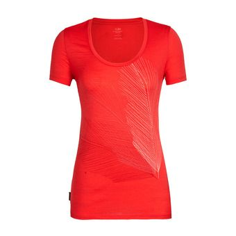 Icebreaker SCOOP PLUME - T-shirt Donna cove