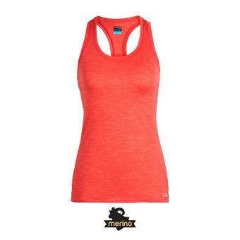 Icebreaker AMPLIFY - Camiseta de tirantes mujer ember hthr