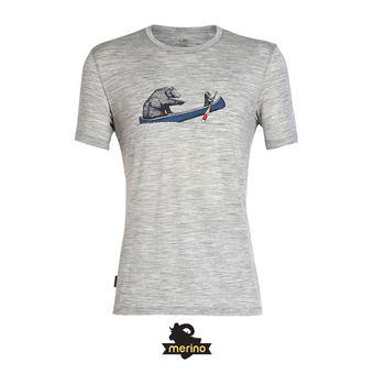 Icebreaker CREWE CANOE COMPANIONS - Tee-shirt Homme metro hthr