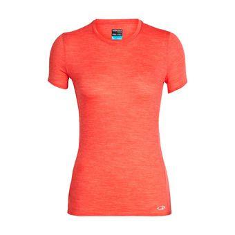 Icebreaker AMPLIFY LOW CREWE - T-Shirt - Women's - ember hthr