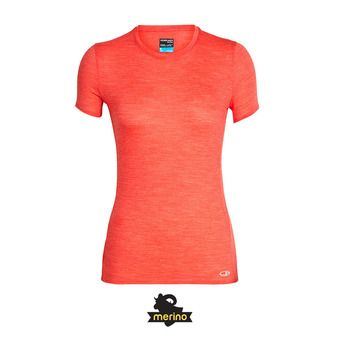 Icebreaker AMPLIFY LOW CREWE - Camiseta mujer ember hthr
