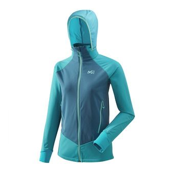 Polaire zippée à capuche femme PIERRA MENT II enamel blue/cosmic blue
