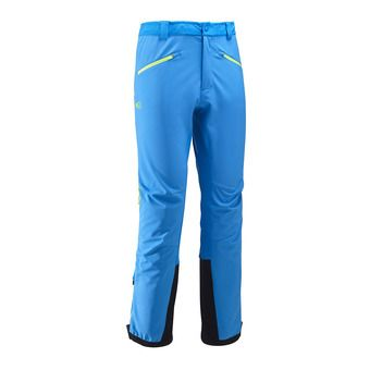 Pantalón Softshell hombre TOURING SHIELD electric blue/acid green